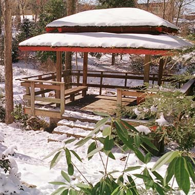 square Snow gazebo